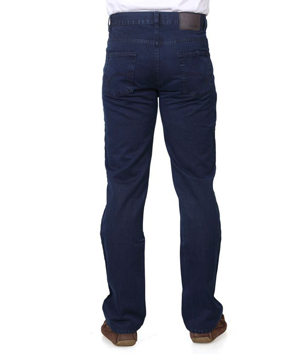 Klix Jeans Blue Cotton Straight Fit Jeans