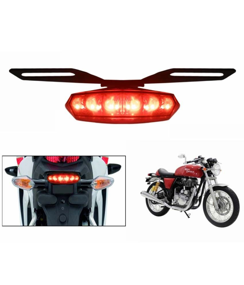 Speedwav Bike 6 Led Safety Red Brake Light With Indicators Royal