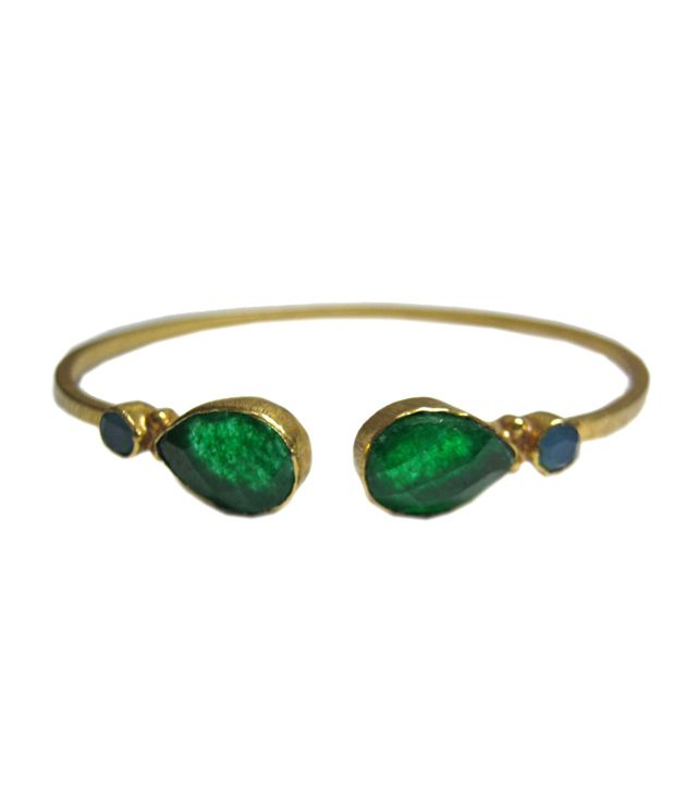 Vinayak gold plated oxidize party wear bangle