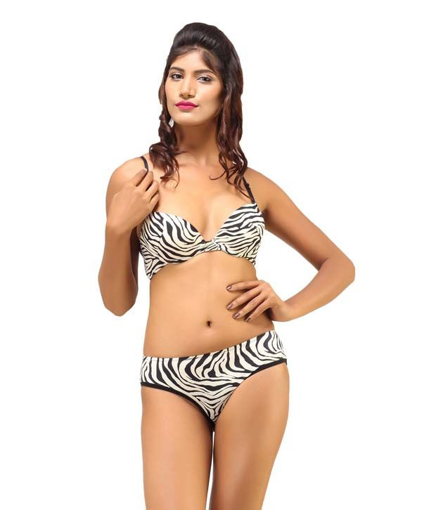 64549b36fcd55 Buy Desiharem Sexy Zebra Print Bra And Panty Set Online at Best Prices in  India - Snapdeal