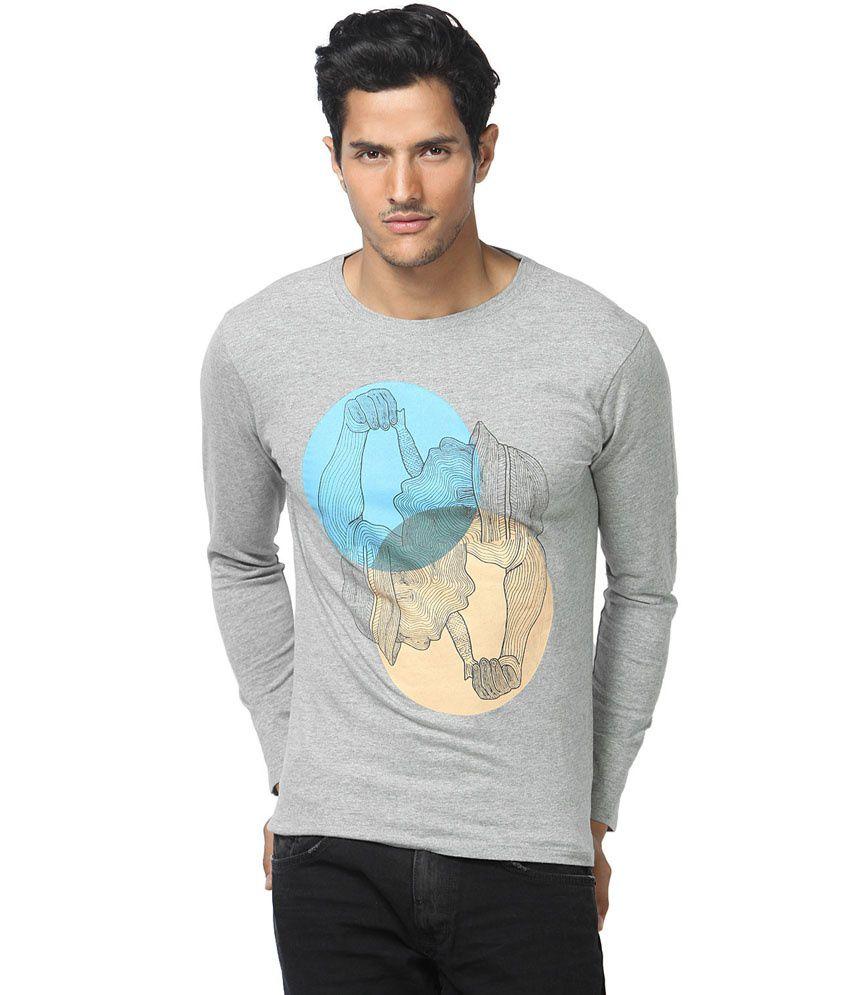 Gabambo Gray Cotton Dil Chahta Hai Printed T-Shirt