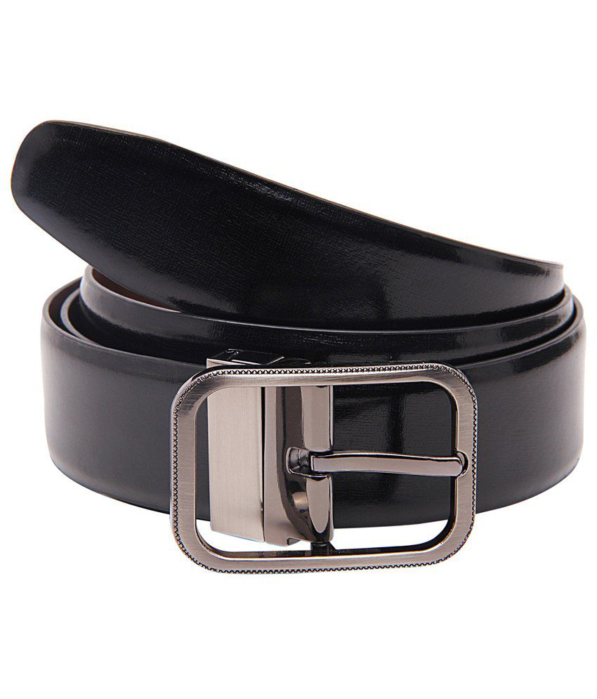 Lustre International Charming Black & Brown Reversible Leather Formal Belt