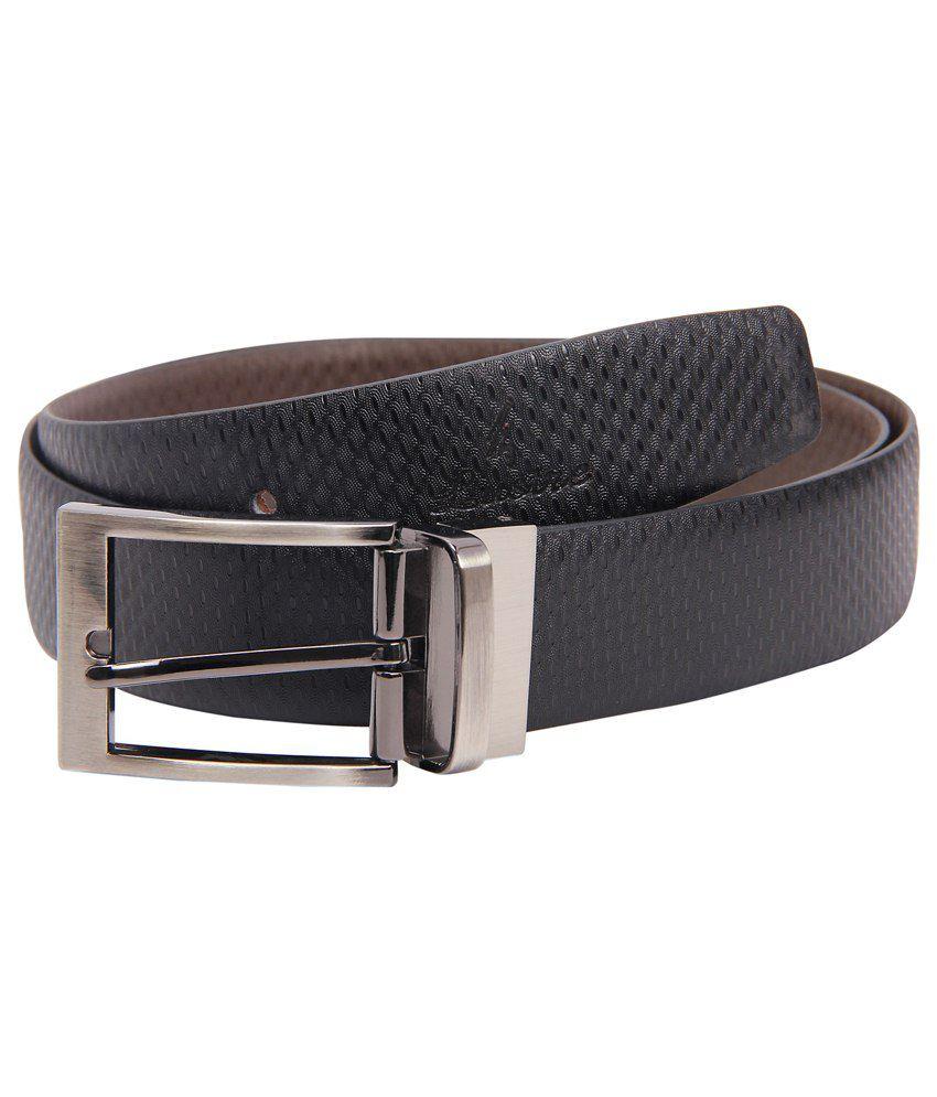 Lustre International Fine Black & Brown Reversible Leather Formal Belt