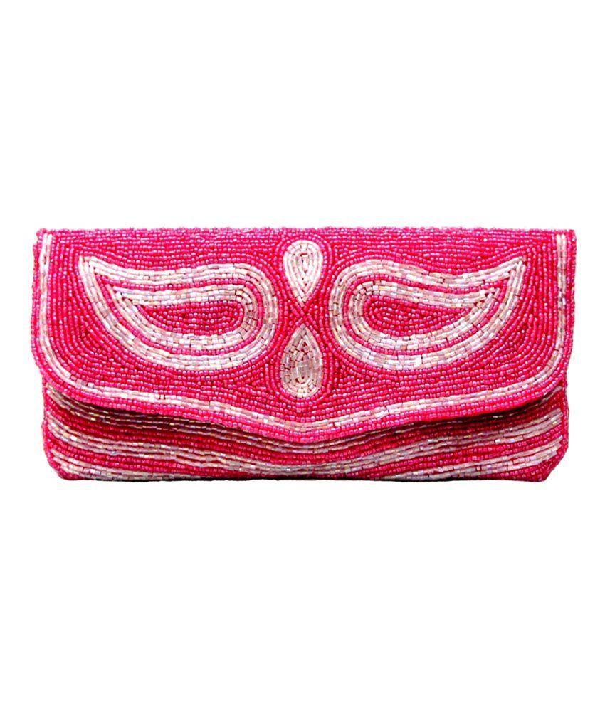Sunita Fashion Pink Wedding Clutch