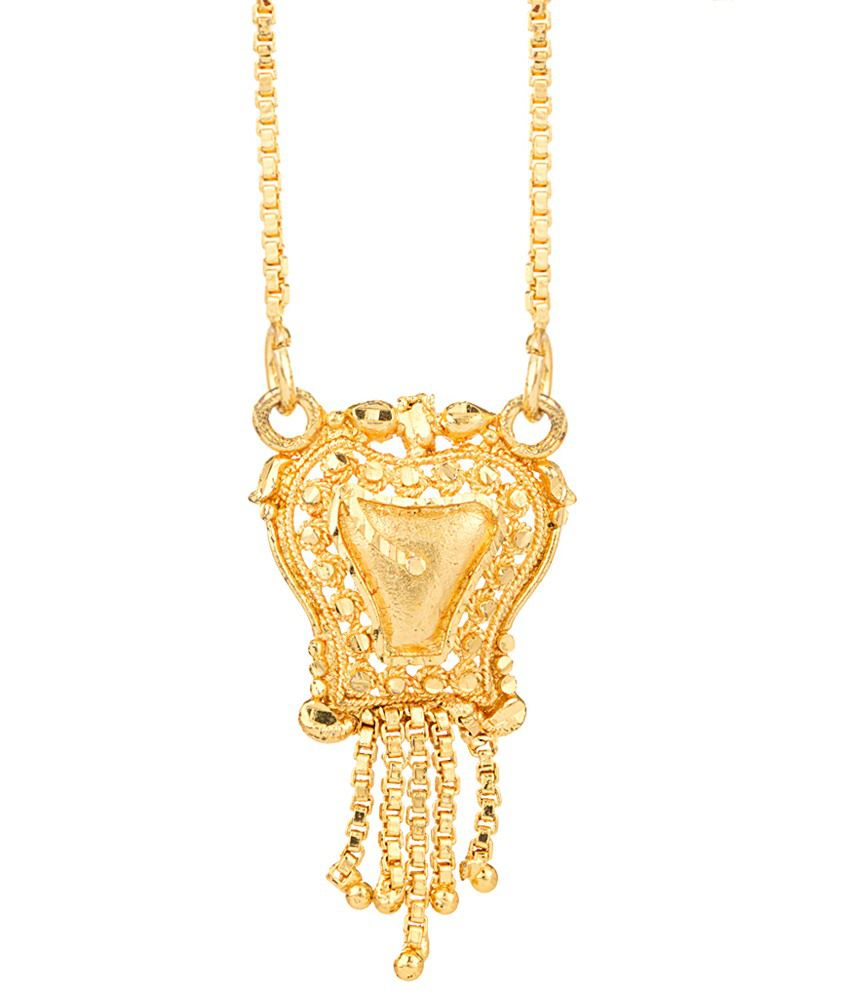 Voylla Dazzling Gold Plated Necklace