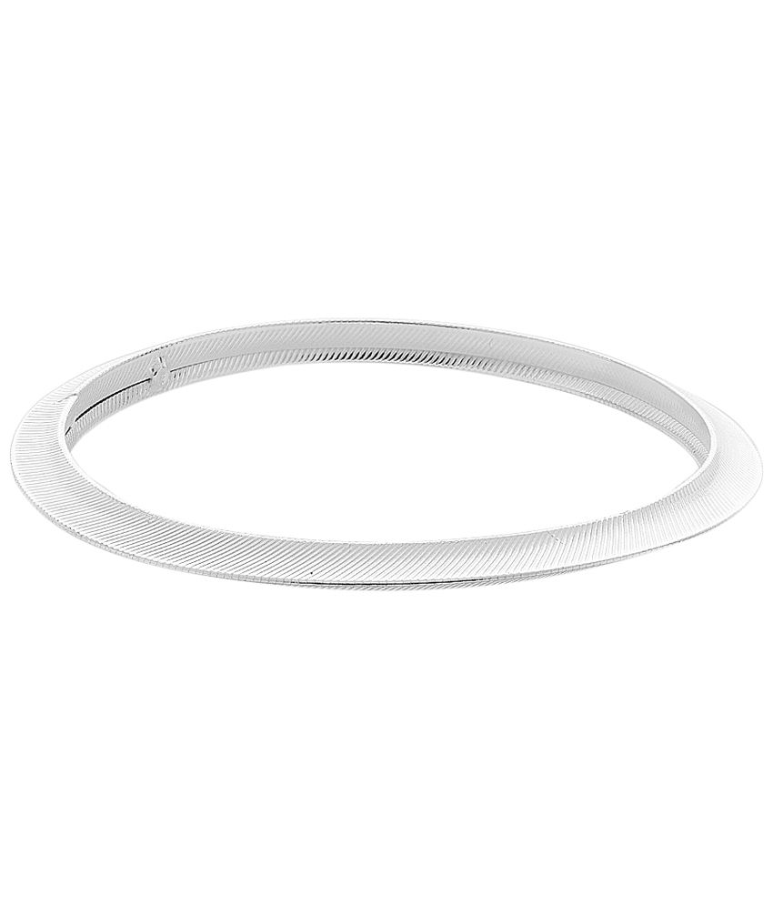 Voylla Exquisite Silver Casual Kada For Men