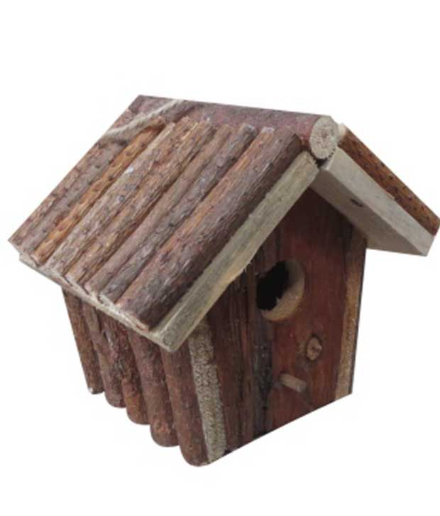 Cbm Brown Fir Wood Bird House