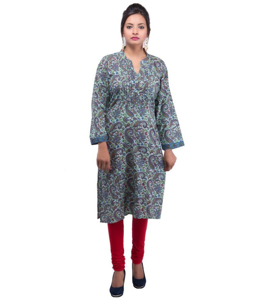 Damyantii Cotton Printed Woven Kurti