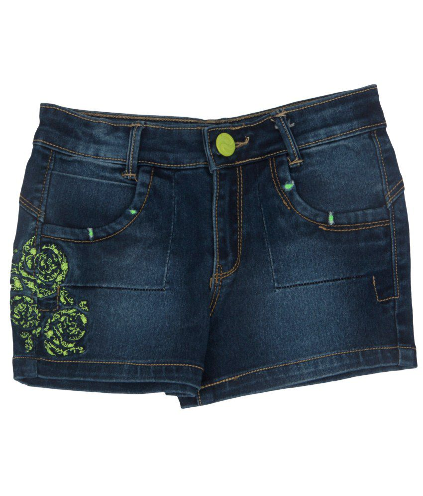 Leo n Babes Green Denim Short