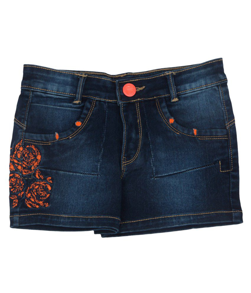 Leo n Babes Orange Denim Short