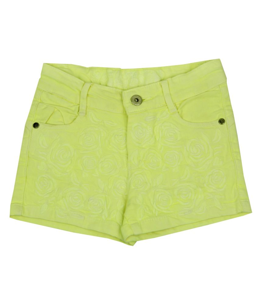 Leo n Babes Yellow Cotton Short