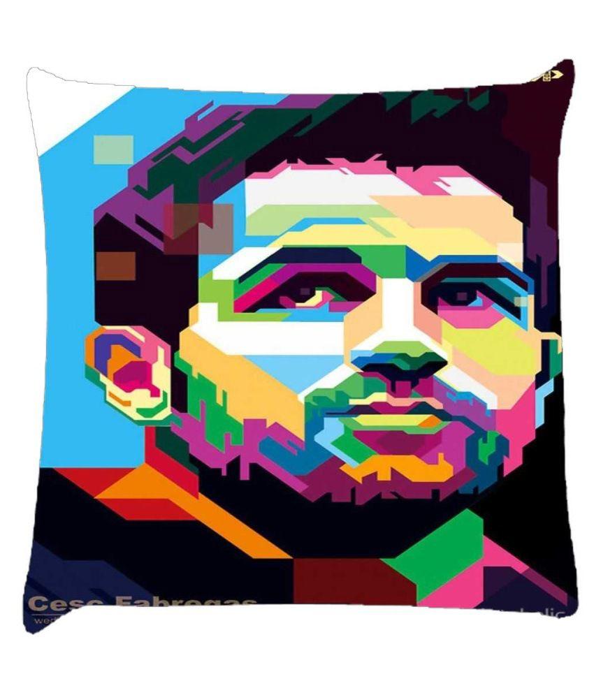 Snoogg Fabregas Polygon Face 2984 Cushion Cover