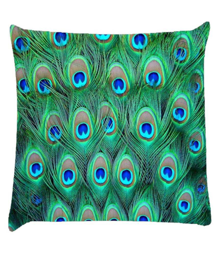 Snoogg Peacock Pattern 2 Cushion Cover