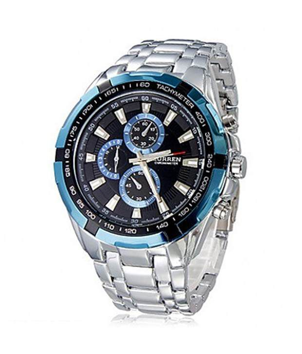 Curren men steel blue watch buy curren men steel blue watch online at best prices in india on for Curren watches