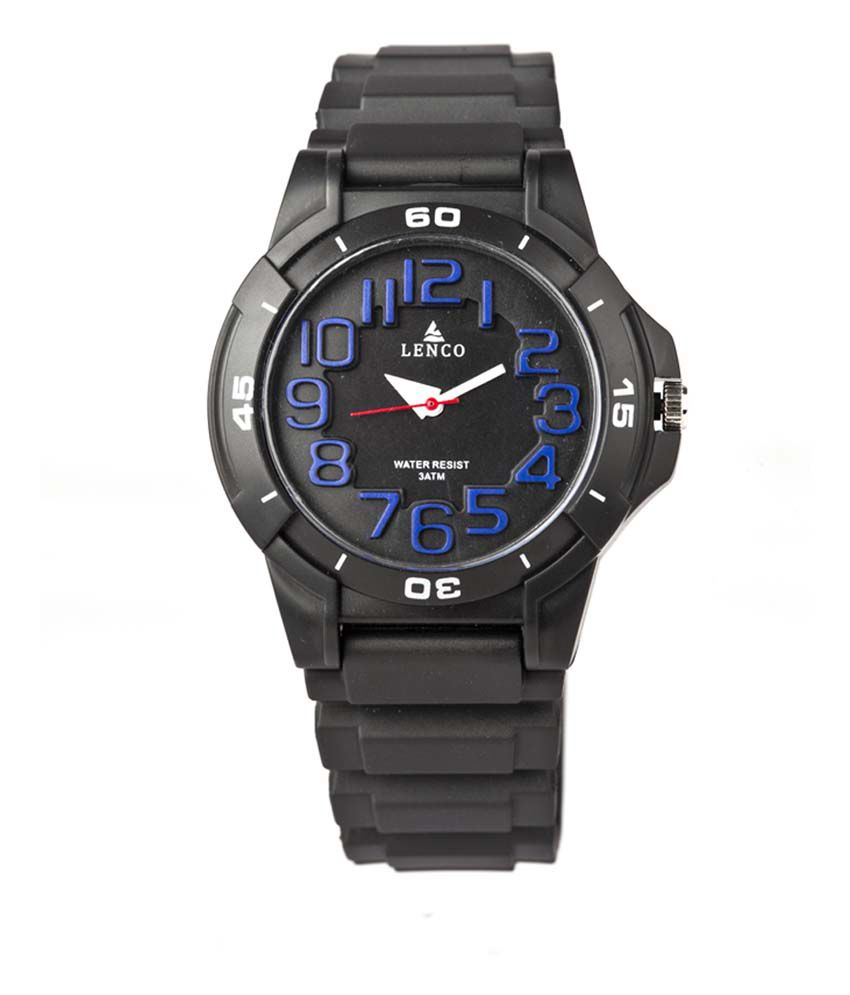 98753ff0b Lenco Black Sports Watches For Men - Buy Lenco Black Sports Watches For Men  Online at Best Prices in India on Snapdeal