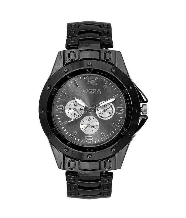 Rosra stylish black men 39 s watch buy rosra stylish black men 39 s watch online at best prices in for Rosra watches