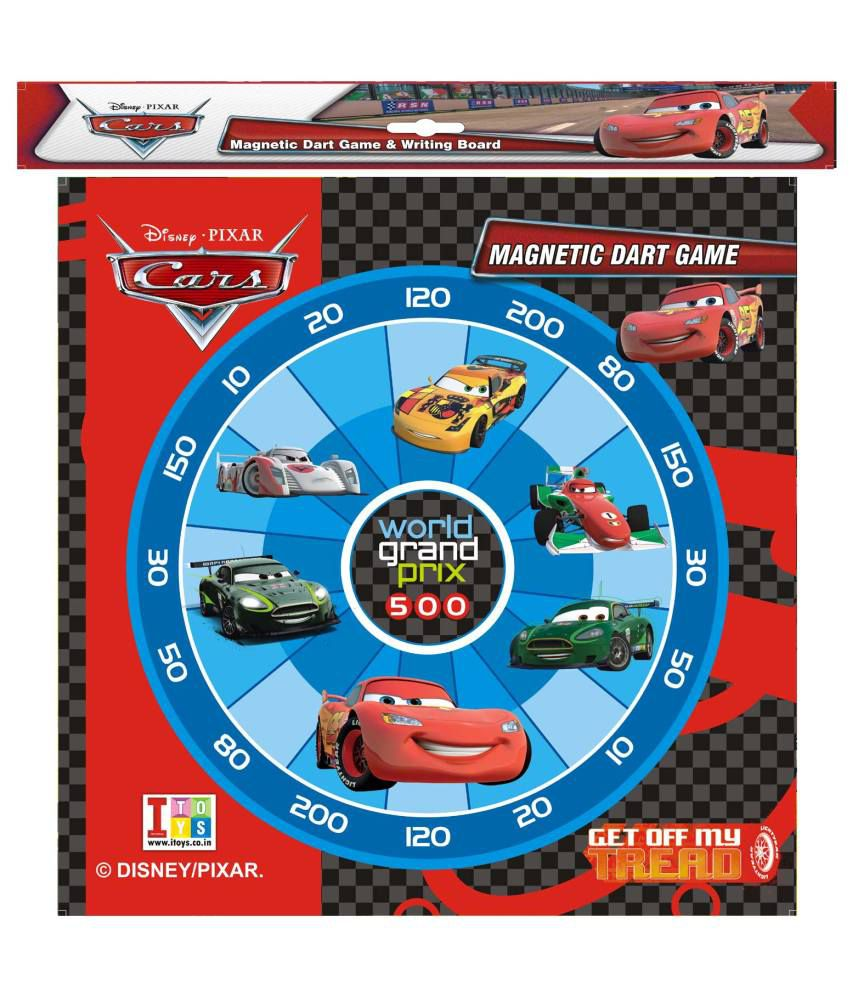 Disney Pixar Cars Wooden Magnetic Dart cum Wipe and Write Whiteboard