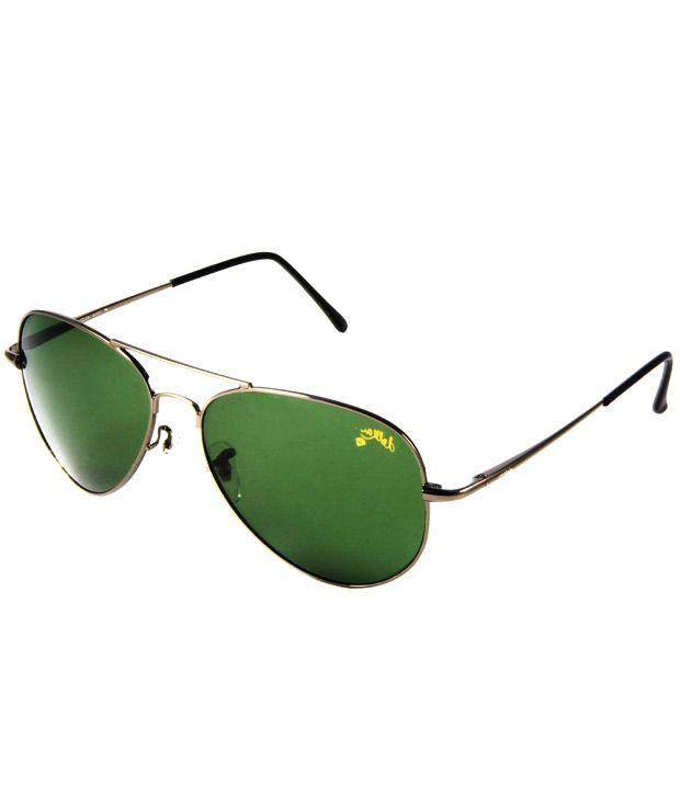 Dolkar Green Aviator Sunglasses For Men