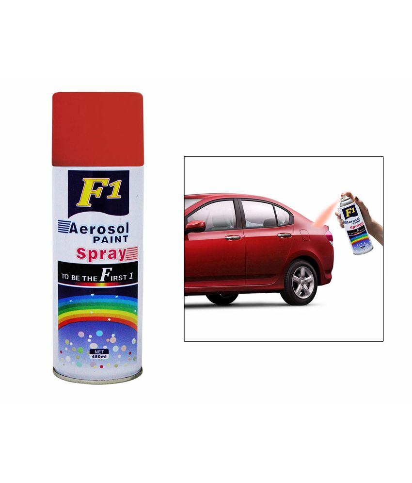 F1 Car Touchup Spray Paint 450ml Red - Volkswagen Polo