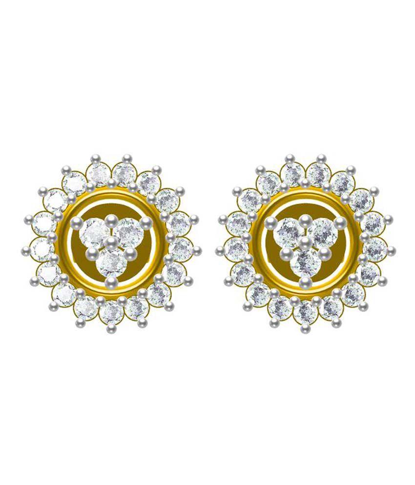 Sakshi Jewels Traditional 18kt Gold Diamond Dagling Earrings