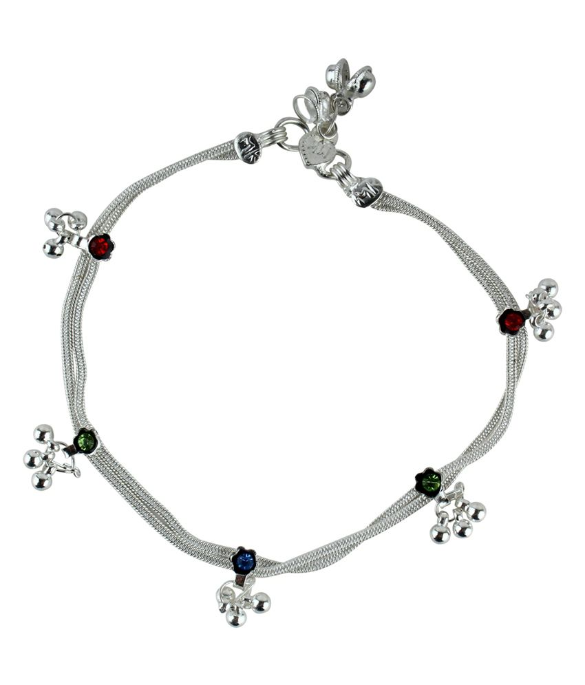Sindoora Silver Style Diva Alloy Anklet