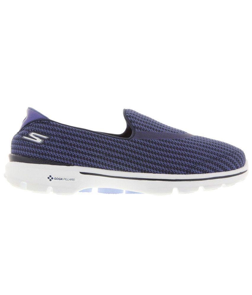 8287aa6c7ae Skechers Go Walk 3 Navy Walking Shoes Price in India- Buy Skechers ...