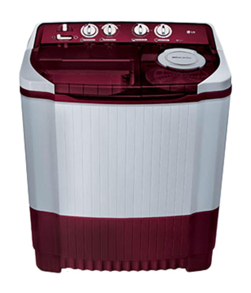 LG 8.0 Kg P9032R3SA Semi Automatic Washing Machine - Burgundy