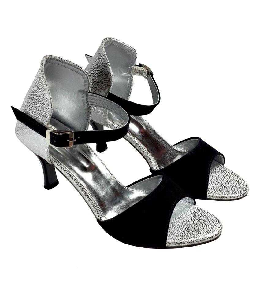 Black dress sandals medium heel - Plutos Stylish Black Medium Heel Sandals Plutos Stylish Black Medium Heel Sandals