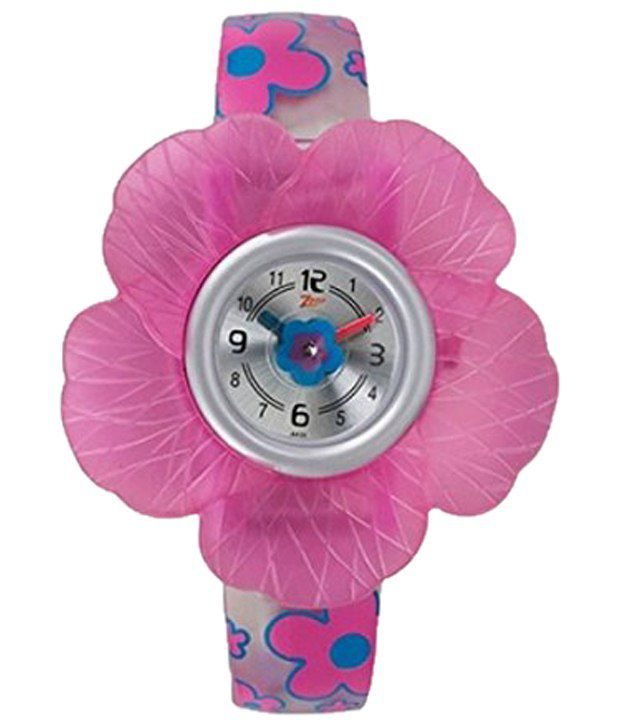 df09ec9156b Zoop Stylish Pink Floral Kid s Wrist Watch Price in India  Buy Zoop Stylish  Pink Floral Kid s Wrist Watch Online at Snapdeal