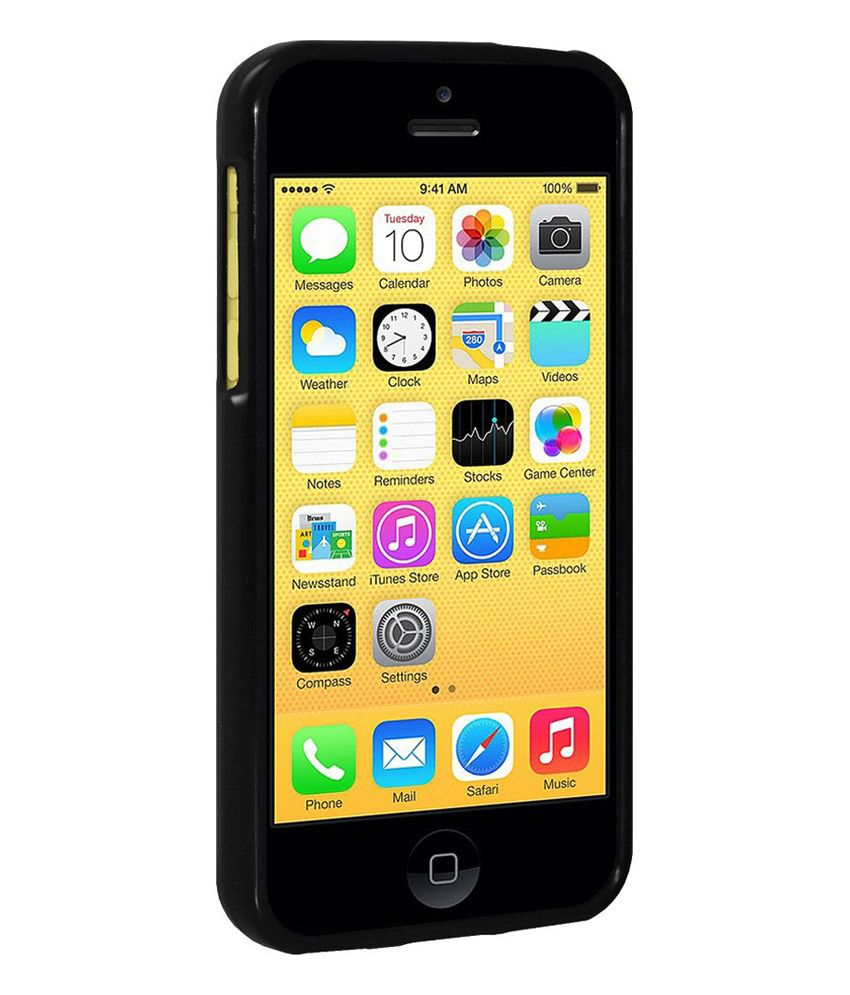 sports shoes a8652 e0fd7 Amzer Back Cover for iPhone 5C - Black