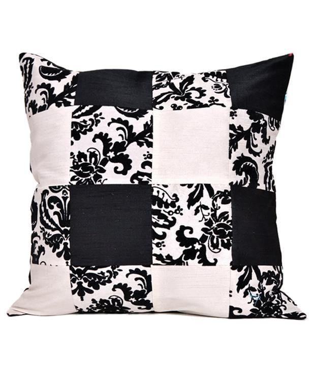 Auspicious Black Contemporary Blends Cushion Covers