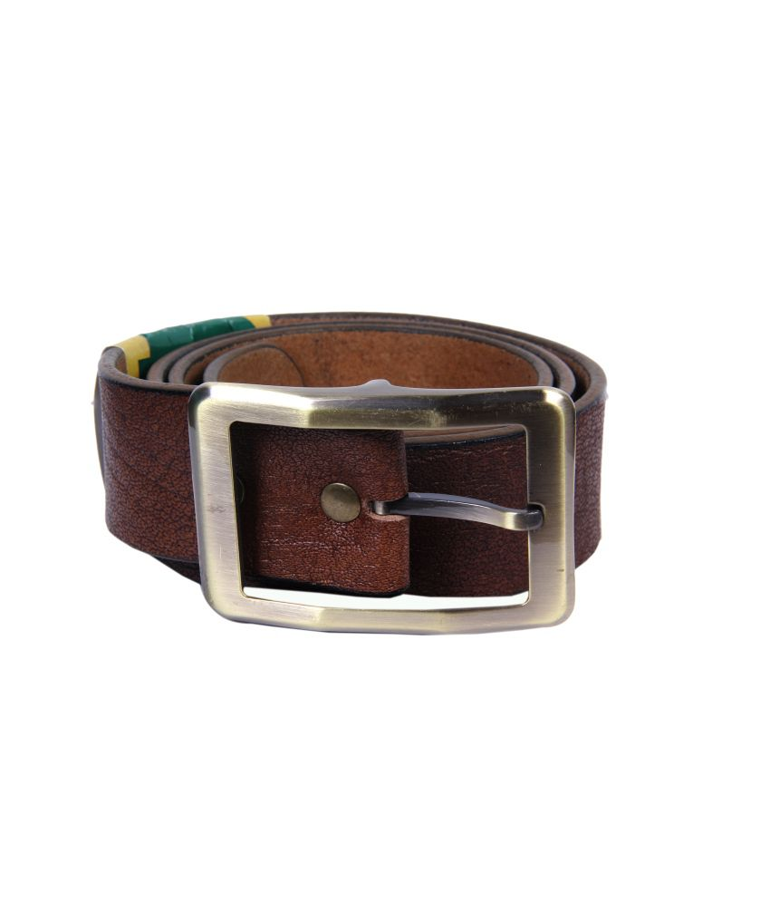 Passion Star Daring Brown Genuine Leather Casual Belt For Men