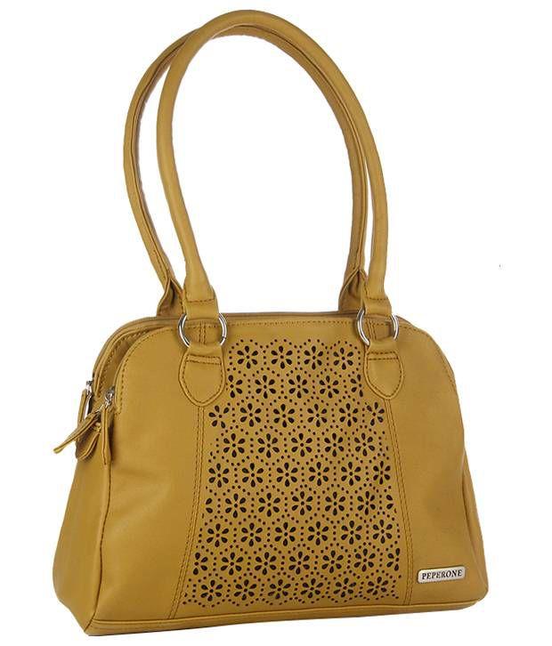Peperone PHBO745 Tan Shoulder Bags