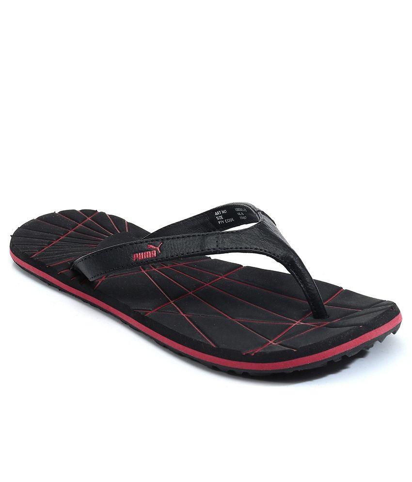 3cce5d4fc Puma Black and Red Flip Flops For Men Price in India- Buy Puma Black and Red  Flip Flops For Men Online at Snapdeal