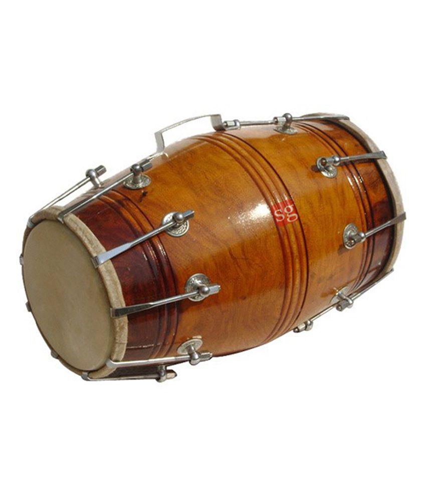Sg Musical Mango Wood And Bolt Tunned Dholak
