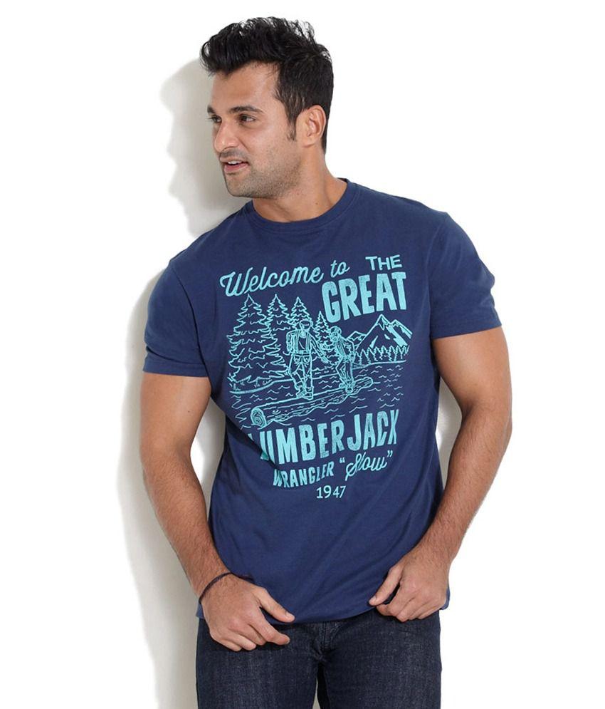 Wrangler Men Casual Solids Cotton Half Sleeve Crew Neck T-Shirt