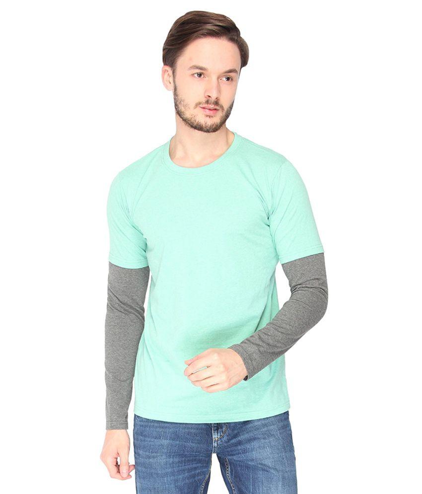 Campus Sutra Green Round T-Shirt
