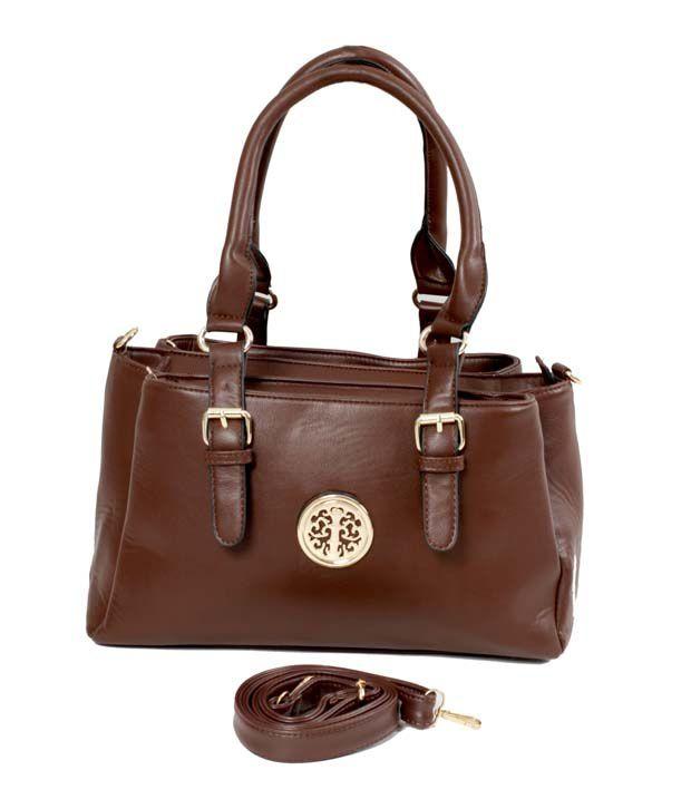 Classique Double Buckle Brown Shoulder Bag