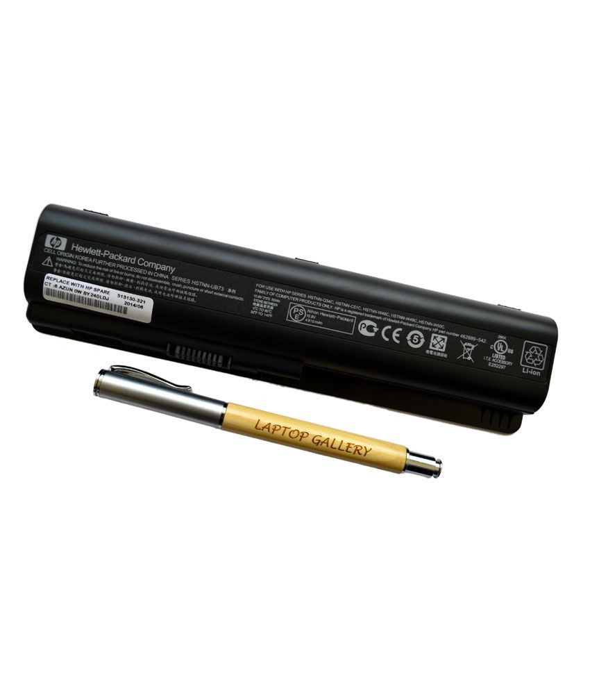 HP Genuine Original Laptop Battery For Pavilion Dv5-1044ca With Clean India Wooden Pen