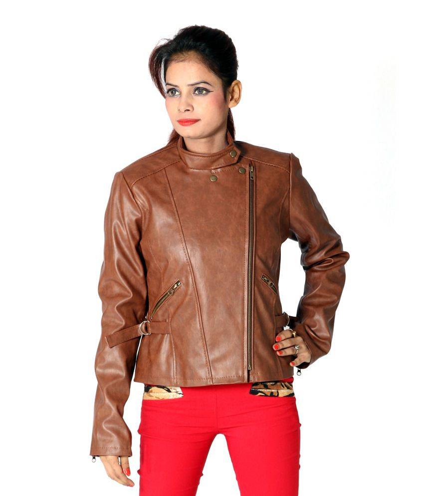 Buy Launcher Brown Leather Jackets Online at Best Prices in India ...