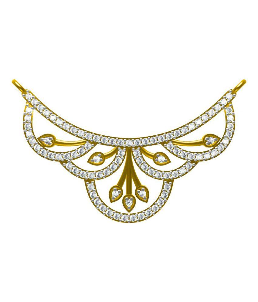 Sakshi Jewels Traditional 18K Gold And VVS-FG Natural Diamond Mangalsutra