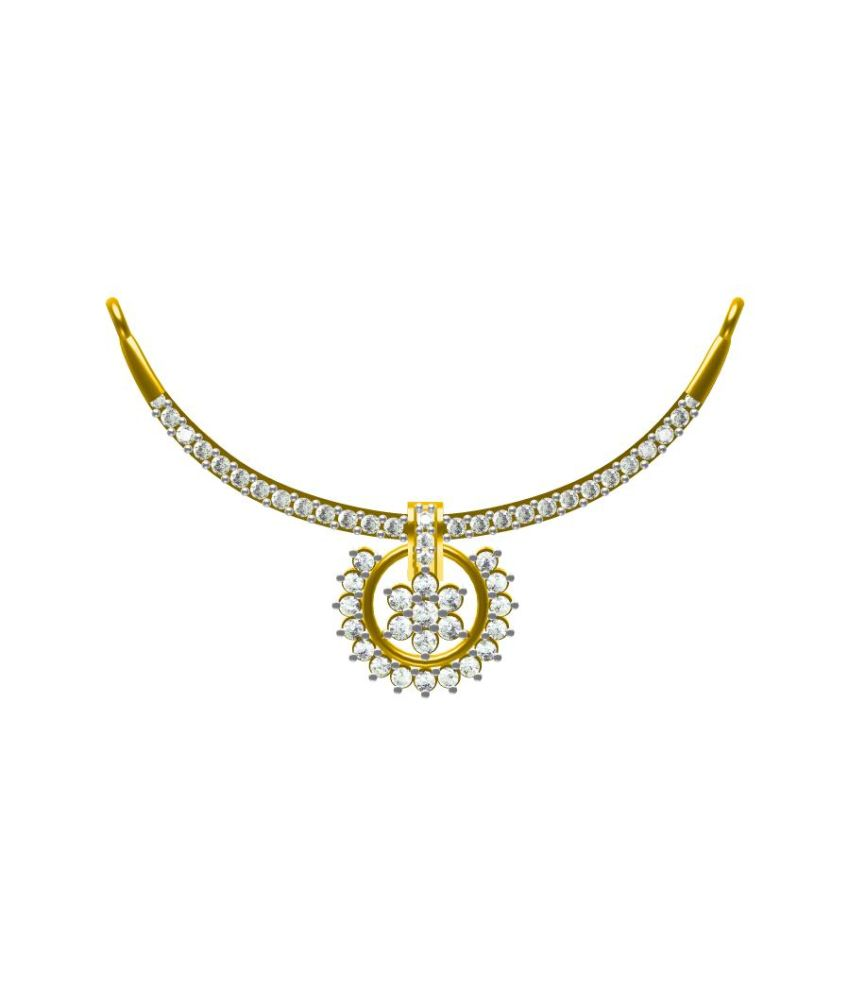 Sakshi Jewels Traditional 18K Gold And VVS-FG Natural Diamond Mangalsutra