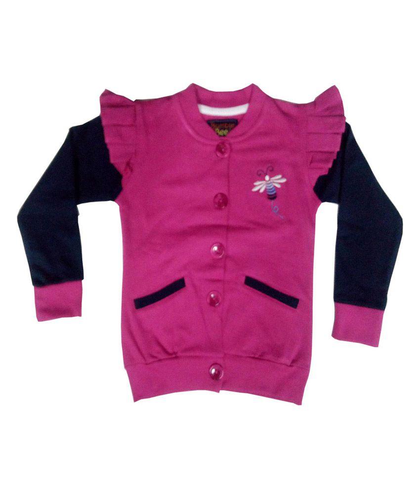 Kothari Purple Cotton Full Sleeve Padded Jackets