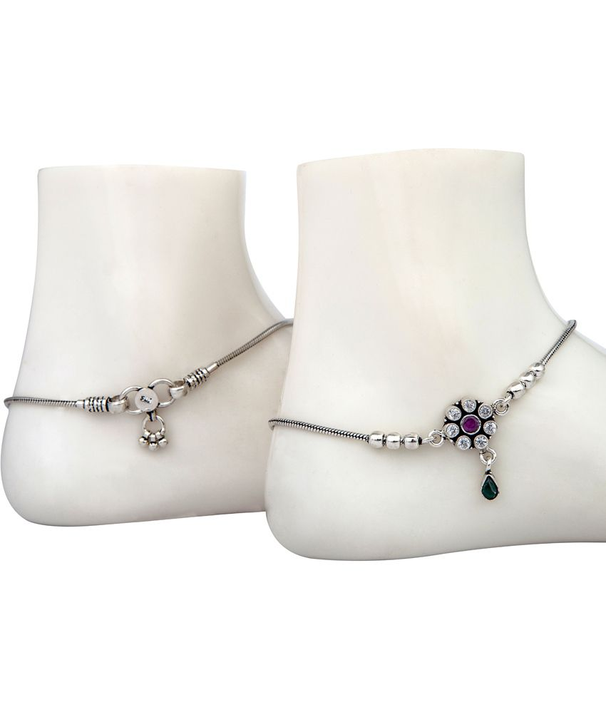 anklet silver anklets pauspa products the ko jewellery