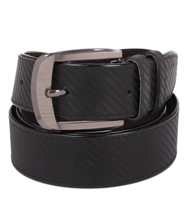 Tryzion Men Exclusive Black Chatai Belt With Card Wallet