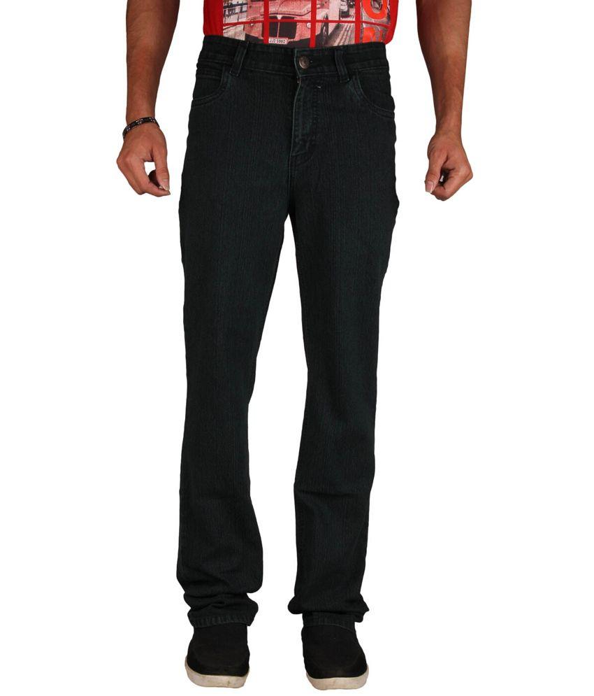 U.S. Rugby Black Stretchable Denim Regular Fit Men's Jeans
