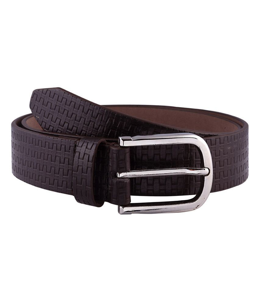 Orkee Men Party Brown Artificial Leather Belt (Brown-09)