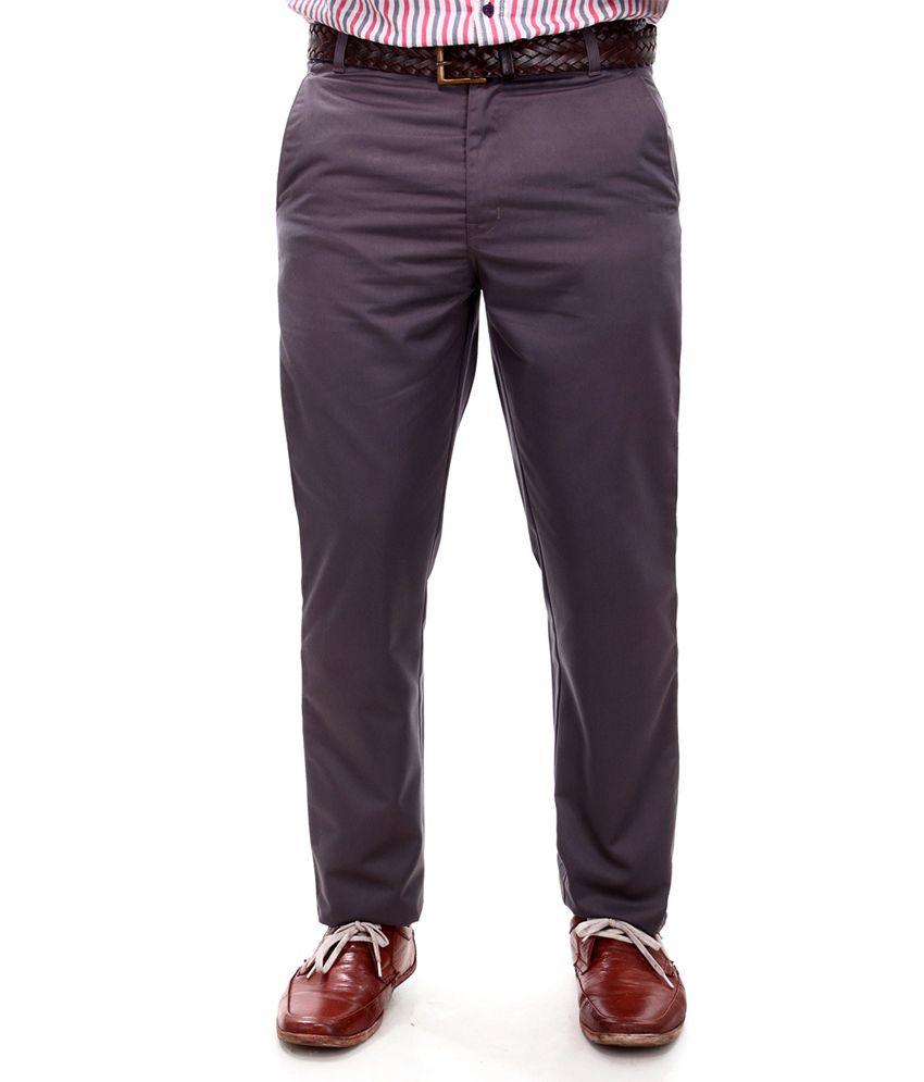 R K Industries Brown Formal Trousers