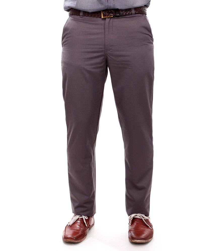 R K Industries Grey Formal Trousers