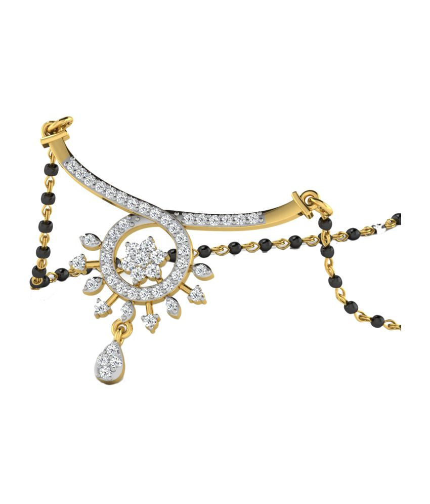 Sparkles 0.55 Ct Diamond Mangalsutra in 18kt Gold N11190